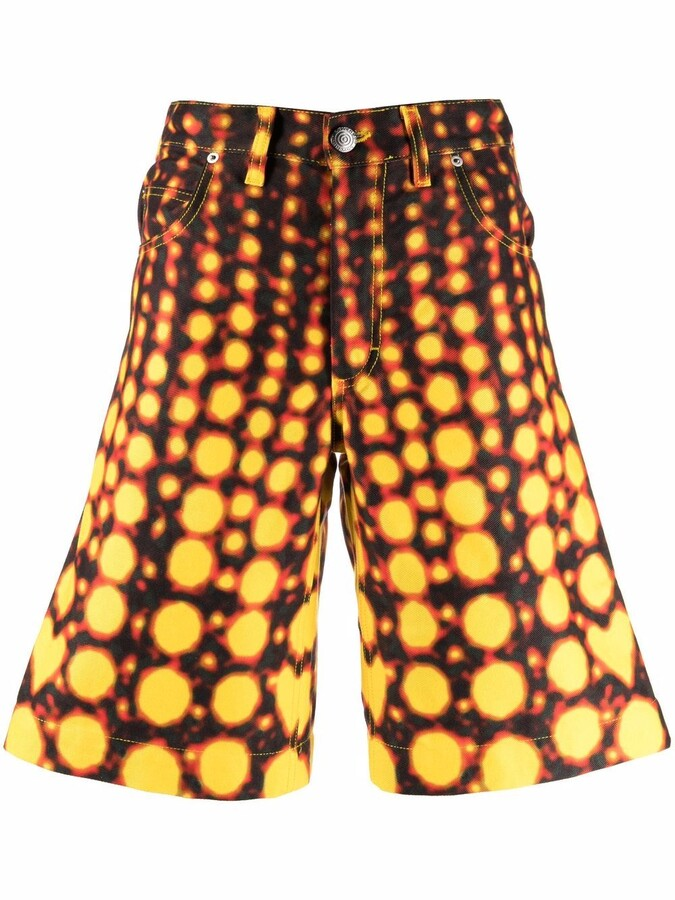 Thumbnail for your product : Charles Jeffrey Loverboy Abstract-Print Shorts