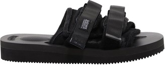 Suicoke Buckled Fur Slides
