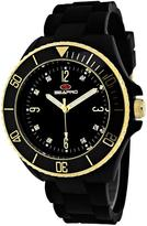 Seapro SP7410 Women's Sea Bubble Black Silicone Watch with Crystal Accents
