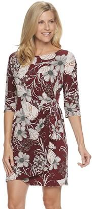 Croft & Barrow Women's Floral Wrap Dress