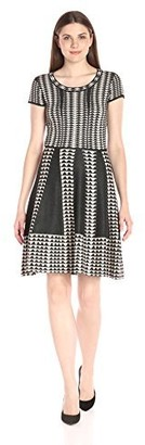 Taylor Dresses Women's Short Sleeve Sweater Dress