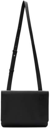 Loewe Black Gusset Flat Messenger Bag