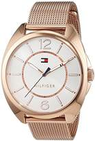 Tommy Hilfiger Womens Quartz Watch, Analogue Classic Display and Rose Gold Strap 1781697