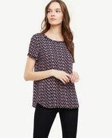 Ann Taylor Tassel Piped Tee