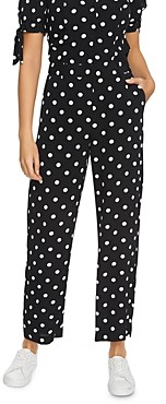 1 STATE Dot Print Ankle Pants