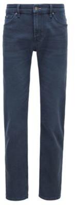 HUGO BOSS Regular Fit Jeans In Dark Blue Italian Denim - Blue