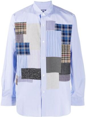 Junya Watanabe Long-Sleeved Patchwork Shirt