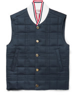 Thom Browne Quilted Cotton-Twill Down Gilet
