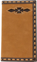 Ariat Medium Brown Rodeo Inlay Leather Wallet