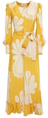 La DoubleJ Super Smokin Hot Silk Wrap Maxi Dress