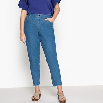 """La Redoute Collections Plus High Waist Mom Jeans, Length 28.5"""""""