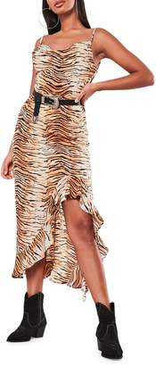 Missguided Tiger-Print Midi Dress