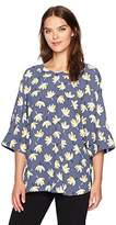 Anne Klein Women's Oversized Floral Printed Blouse