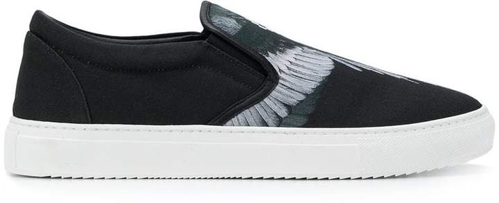 Marcelo Burlon County of Milan feather print slip-on sneakers