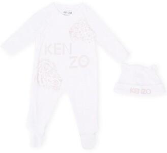 Kenzo Kids Tiger Logo Babygrow Set