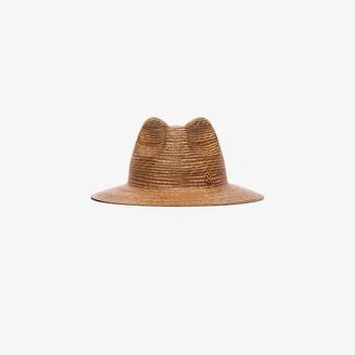 Maison Michel brown Rico straw fedora hat