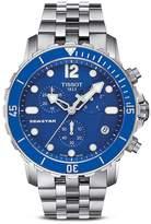 Tissot Seastar Men's Quartz Blue Watch with Stainless Steel Bracelet, 45mm