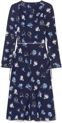 Marni Floral-print Stretch-crepe Dress