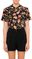 RED Valentino Floral Silk Top