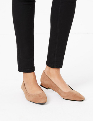 Marks and Spencer Suede Almond Toe Pumps