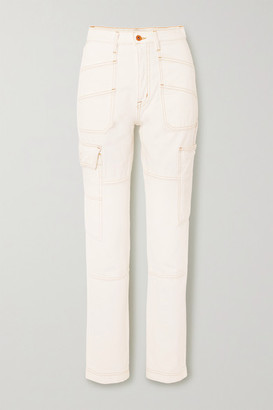 SLVRLAKE Savior High-rise Straight-leg Jeans - White