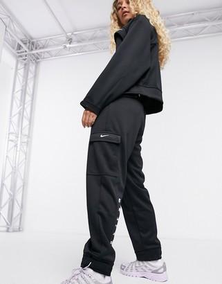 Nike swoosh cargo pocket joggers in black