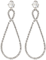 Miu Miu Silver Large Crystal Teardrop Earrings