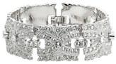Nina Women's Swarovski Crystal Filigree Link Bracelet