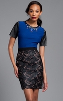 """Tracy Reese Cobalt Embellished """"T"""""""