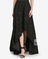 Polo Ralph Lauren Denim High-Low Cotton Skirt