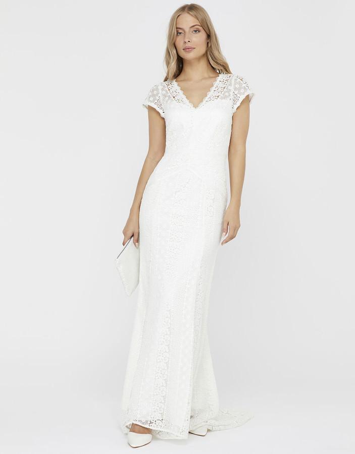 Under Armour Nellie Bridal Lace Maxi Dress Ivory