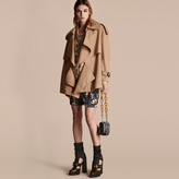 Burberry Cotton Gabardine Deconstructed Cropped Trench Coat