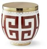 Williams-Sonoma Williams Sonoma Greek Key Cloisonne Vase, Rust