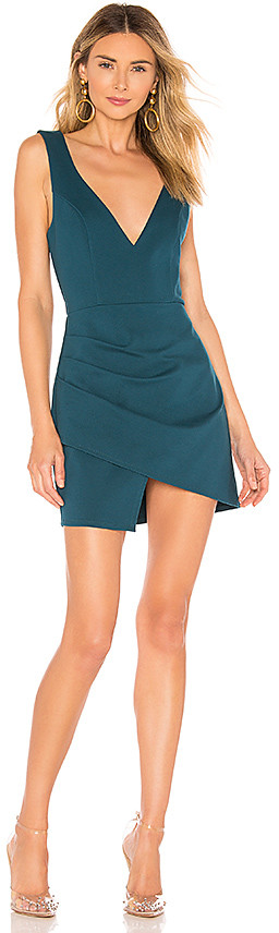 cebc1edd88 Surplice Teal Dress - ShopStyle
