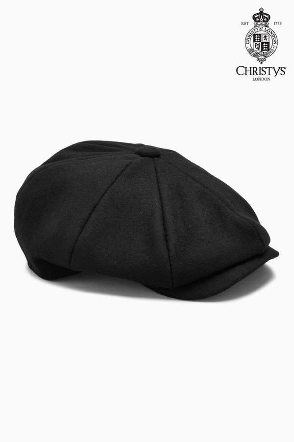e2a19fd02 Mens Black Christys' London Baker Boy Hat - Black
