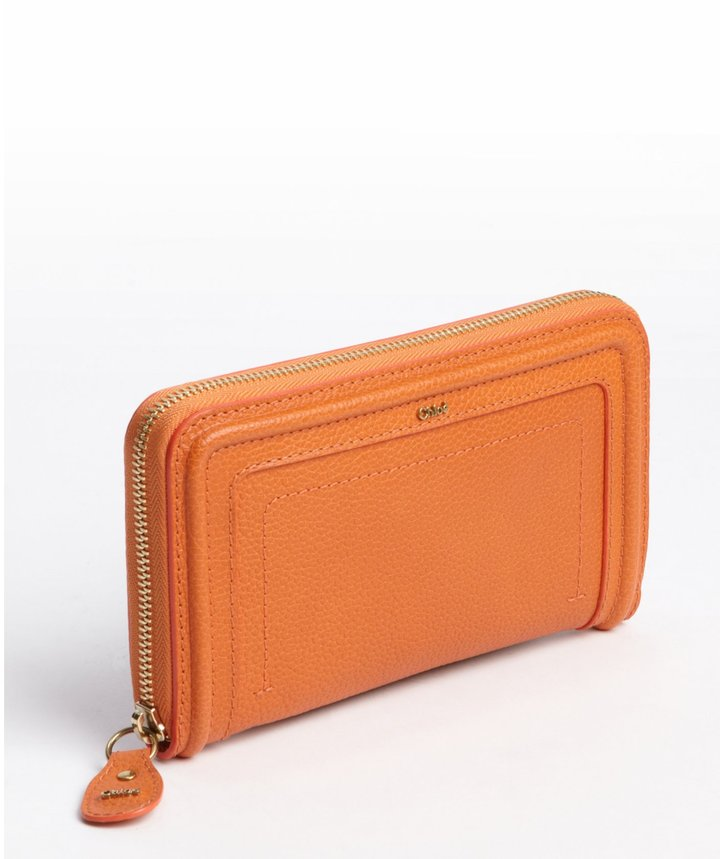 Chloé indian summer leather 'Paraty' zip continental wallet