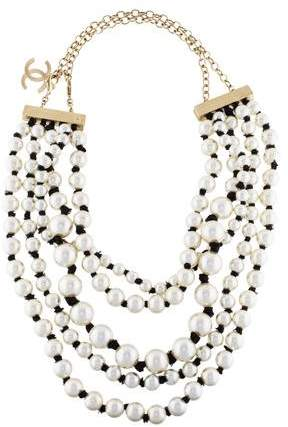 Chanel Pearl Multistrand Necklace