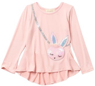Btween Bunny High/Low Peplum Hem Top (Toddler Girls)
