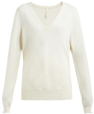 Extreme Cashmere - No.89 Be Nice Stretch-cashmere V-neck Sweater - Womens - Ivory