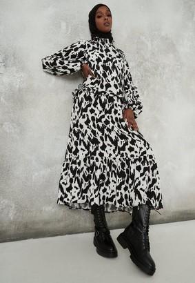 Missguided Dalmatian Print Midi Smock Dress