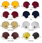 Tokens & Icons Game-Used College Football Helmet Cufflinks