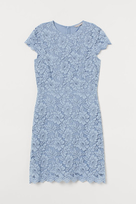 H&M Short Lace Dress - Blue