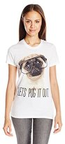 """Goodie Two Sleeves Juniors' """"Lets Pug It Out"""" Graphic T-Shirt"""