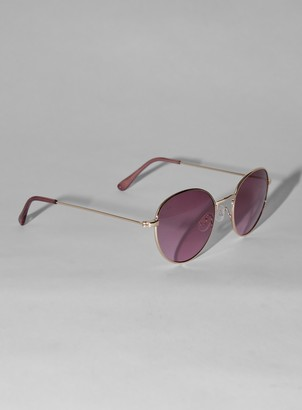 Topman JEEPERS PEEPERS Gold Round Sunglasses*