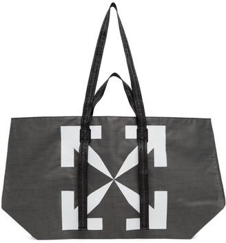 Off-White Black and White PVC Arrows Tote