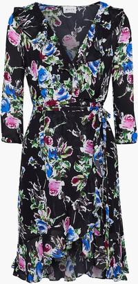 Milly Audrey Floral-print Silk Crepe De Chine Mini Dress