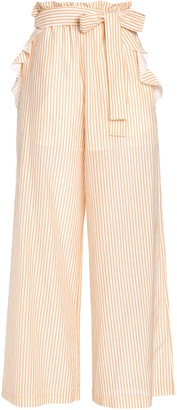 Nicholas Striped Cotton And Silk-blend Wide-leg Pants