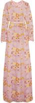 Giambattista Valli Appliquéd Guipure Lace Gown - Pink