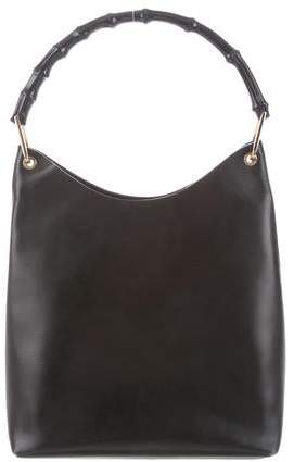 be6947ab814179 Gucci Black Leather Hobo Bag - ShopStyle
