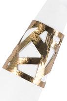 Josie Natori Geometric Gold Cuff